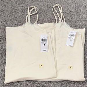 2 Ann Taylor cream colored Camis